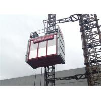 Wholesale Building Construction Hoist Elevator , Twin Cage Material Lifting Equipment 2 Ton Capacity from china suppliers