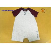 Buy cheap Raglan Baby Boy Short Sleeve Bodysuits Color Custom With U Shaped Crotch from wholesalers