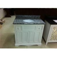 Wholesale 37 Wood Bathroom Vanity Cabinet Polished Finish With Grey Granite Tops from china suppliers