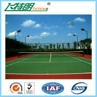 China Indoor Sport Court Flooring / Shock Absorbing Elastic Flooring Fastest Tennis Court Surface on sale