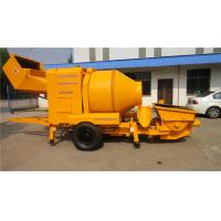 Wholesale 22kw Portable Concrete Pump Concrete Trailer Pump Wheel Axle Plate Spring 6 MPa from china suppliers