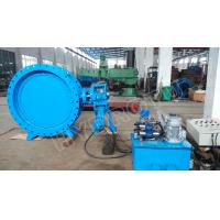Buy cheap DN2000mm Hydraulic Heavy Hammer Butterfly Valve for Hydropower Station, from wholesalers