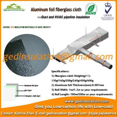 Aluminum foil coated fiberglass cloth heat resistant for Is fiberglass heat resistant