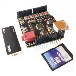how to write sensored data to micro shield sdcard