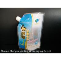 China Non Leakage Stand Up Pouch With Corner Spout / Refined Sugar Packaging Bag on sale