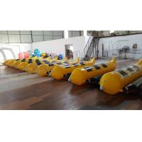 3 Seats Inflatable Water Banana Boat With 0.9mm PVC Tarpauline Material for sale