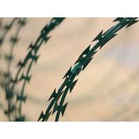 China PVC Coated Razor Barbed Wire Anti-rust Spray Painting Barbed Wire fencing on sale