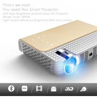 Simplebeamer gp5w 3d led projector 1800 lumens with android os wifi smart projector for Small bluetooth projector