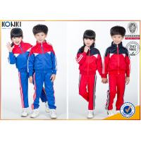 Wholesale New school uniform design blue and red color 100% polyester custom school uniform for teachers and students from china suppliers