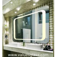 China 4mm Polished Silver Mirror LED Bathroom Mirrors With Touch Scree Switch on sale