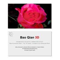 Wholesale 0.6mm Thickness 89x68mm 3D Lenticular Card 3D Flip Changing Effect from china suppliers