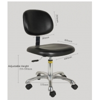 Wholesale Synthetic Leather PU Foam ESD Cleanroom Chair 420*450mm from china suppliers