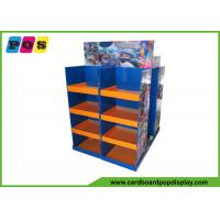 Multi Sided Corrugated Pallet Display Shelves , Product Display Stands For RC Toys PA017