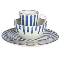 Wholesale Family Use Stoneware Dinnerware Sets , Artistic round Tableware / Dinnerware Set from china suppliers