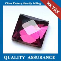 Wholesale T shirt accessories square hot fix DMC stone;Amethyst DMC hot fix stone ;DMC stone hot fix from china suppliers