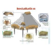 Synthetic Thatch Roofing Tiles For Resort Of Item 98955354