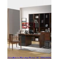 Wholesale 2016 New Nordic Design Study room Furniture by Walnut wood Office Desk with Armchair and in Wall Bookcase Cabinet from china suppliers