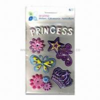 Wholesale Puffy Scrapbooking 3-D Stickers, Made of Vinyl and Sponge, Easy to Stick and Remove from china suppliers