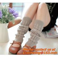 Lace,Trim Crochet Knit Foot Knee High cotton socks use for ...