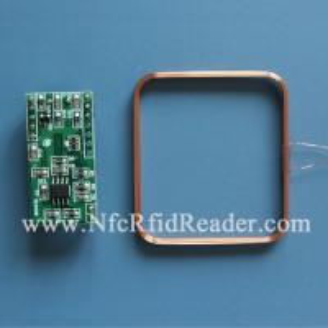 LF 125Khz Wireless RFID Reader Module , EM4200 EM4100 TK4100 UART RFID Reader