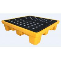 Wholesale Rotational Moulding 4 Drum Spill Containment Pallet PE Yellow 1300*1300*300mm from china suppliers