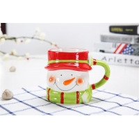 Wholesale Hand Painted Three Dimensional 301CC Christmas Ceramic Mugs from china suppliers