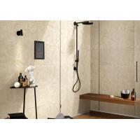 China Beige Color Marble Porcelain Tile For Bathroom Shower Low Absorption Rate on sale