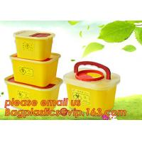 Wholesale BIOHAZARD WASTE CONTAINERS, PLASTIC STORAGE BOX, MEDICAL TOOL BOX, SHARP CONTAINER, SAFETY BOX, Disposable Hospital Bioh from china suppliers