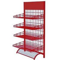 China Wire Mesh Display Stands Display Racks For Retail Stores Silver / Red / Black on sale