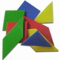 Wholesale Hard Plastic Tangram with Four Colors, Measures 10 x 10 x 0.2cm from china suppliers