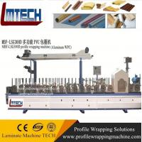 Wholesale wpc door frame extrusion line WPC Profiles wrapping machine with CE from china suppliers