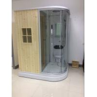 China Recantangel Sauna Room Bathroom Shower Cabins 2 Sided Waste Drain / Wooden Room on sale