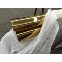 China PVD golden stainless steel mirror colored pipes price per ton on sale