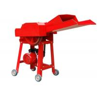 Wholesale Red Livestock Farming Equipment , Steel Material Small Chaff Cutter Machine from china suppliers