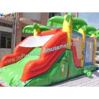 Wholesale Custom Large Inflatable Bouncer Slide PVC Tarpaulin With 6Lx4Wx4H Meter from china suppliers