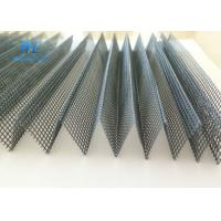 Wholesale Grey Black Plisse Insect Screen With Good Air Liquidity / Elegant Net Form from china suppliers