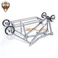 Wholesale Classic Style Titanium Rear Rack Full Size For Brompton Folding Bike C Brake from china suppliers
