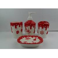 Wholesale Pottery Christmas Bathroom Set from china suppliers