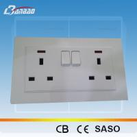 Wholesale LK4057B 13A UK double switched socket from china suppliers