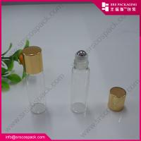 Wholesale 1/6oz 5ml mini roll-on glass bottle for essential oil metal roller ball fragrance perfume from china suppliers