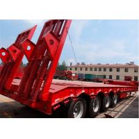 Quality Excavator transport low load trailer  lowboy semi trailers high strength for sale