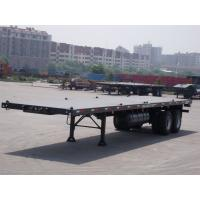 Buy cheap 20ft 40ft shipping flatbed container transport semi trailer flatbed truck trailer prices 2 axle flatbed trailers with co from wholesalers