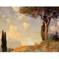 Wholesale Impressionist(3830) A_Landscape_Study_at_San_Vigilio_Lake_of_Garda from china suppliers