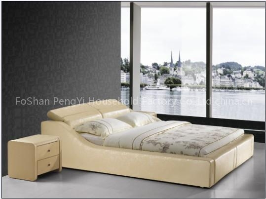 Quality king size leather beds py109 for sale 539 x 403