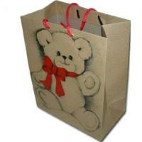 Wholesale Christmas Paper Gift Bag With Lovely Bear from china suppliers