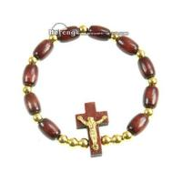 Buy cheap Here: Products + Wood Rosary Bracelet + Hf-a258 Rosary bracelet from wholesalers