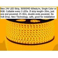 Buy cheap LED Strip www.gugtech.com New 24V LED Strip 50m/Reel No Volt Drop from wholesalers