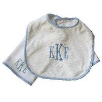 Buy cheap Embroidered Baby Gifts Bib and Burp Cloth Set (monogram) from wholesalers