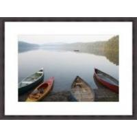 Buy cheap Adirondack Lake With Boats Framed Print from wholesalers