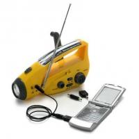 China Solar Hand Crank Dynamo torch with FM/AM radio&Emergency charger&Siren on sale